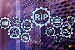 Routing Information Protocol dello STRAPPO Cocept delle reti di tecnologia illustrazione vettoriale
