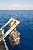 ROV die (ver in werking gesteld voertuig) lanceren Royalty-vrije Stock Foto's