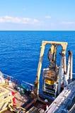 ROV (ver in werking gesteld voertuig) Stock Foto's