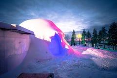 Rovaniemi - 16-ое декабря 2017: Деревня Санта Клауса Rovaniemi, стоковые изображения rf