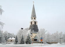 Rovaniemi Church in winter, Finland Stock Images