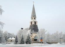 Rovaniemi Church in winter, Finland. Rovaniemi Church in winter, Finnish Lapland, Finland Stock Images