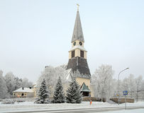 Rovaniemi Church in winter, Finland Stock Image
