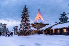 Rovaniemi - 16 December, 2017: Santa Claus-dorp van Rovaniemi, royalty-vrije stock foto