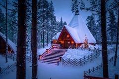 Rovaniemi - 16 December, 2017: Santa Claus-dorp van Rovaniemi, Royalty-vrije Stock Afbeeldingen