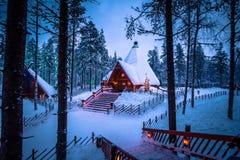 Rovaniemi - December 16, 2017: Santa Claus village of Rovaniemi, Royalty Free Stock Photos