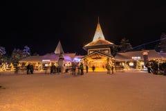 Rovaniemi - December 16, 2017: Santa Claus village of Rovaniemi, Royalty Free Stock Photography