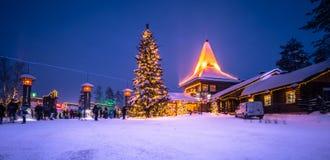 Rovaniemi - 16. Dezember 2017: Santa Claus-Dorf von Rovaniemi, Stockfotos