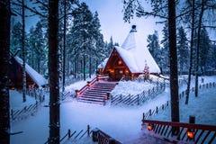 Rovaniemi - 16. Dezember 2017: Santa Claus-Dorf von Rovaniemi, Stockfotografie