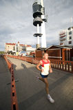 Rovaniemi marathon stock photo