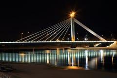 Rovaniemibrug bij nacht Stock Foto