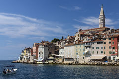 Rovenj - Istrian Peninsula - Croatia. The city of Rovenj on the Istrian Peninsula in Croatia. The town is also know by its Italian name of Rovigno. Located on royalty free stock image