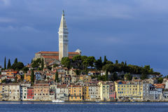 Rovenj - Istrian Peninsula - Croatia. The city of Rovenj on the Istrian Peninsula in Croatia. The town is also know by its Italian name of Rovigno. Located on stock photography