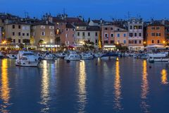 Rovenj on the Istrian Peninsula in Croatia. The town is also know by its Italian name of Rovigno. Located on the western coast of the Istrian peninsula, it has royalty free stock image