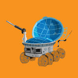 Rover color on orange background Royalty Free Stock Photos