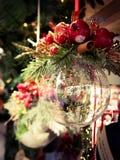 Rovereto - Italien - 18 December 2016 - julmarknader i Rovereto arkivbilder