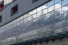 Rovereto miasta góra i okno Obraz Stock