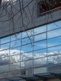 Rovereto miasta góra i okno Obrazy Royalty Free