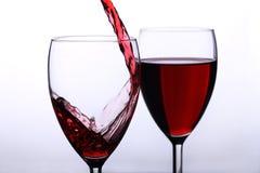 Rovesciamento del vino Fotografia Stock Libera da Diritti