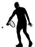 Rovescio del giocatore di tennis dell'uomo Fotografia Stock Libera da Diritti