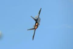 Rovfågel F-22 på den stora New England flygshowen Royaltyfri Bild