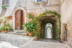 Roviano, comune στη μητροπολιτική πόλη της Ρώμης στην ιταλική περιοχή Latium Στοκ Φωτογραφία