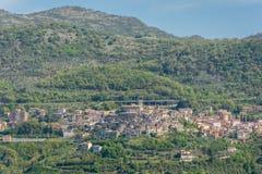 Roviano, comune στη μητροπολιτική πόλη της Ρώμης στην ιταλική περιοχή Latium Στοκ φωτογραφία με δικαίωμα ελεύθερης χρήσης