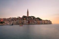 Rovigno al tramonto, Croazia Immagini Stock