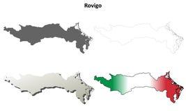 Rovigo blank detailed outline map set. Rovigo province blank detailed outline map set Stock Photography