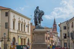 Rovigo, Veneto, Italy. Garibaldi Square in Rovigo, Veneto, Italy Stock Photo