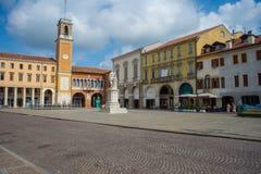 Rovigo, Veneto, Italy. Vittorio Emanuele II Square, Rovigo, Veneto, Italy Stock Photos