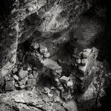 Rovina ancestrale d'annata di stile B&W Puebloan Anasazi Fotografia Stock