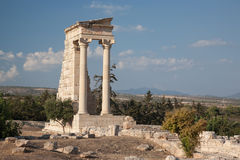 Rovina antica del Cipro Grecia Immagini Stock