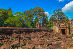 Rovina antica del tempio di Preah Khan immagini stock