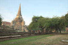 Rovina antica di Wat Phra Sri Sanphet Immagini Stock