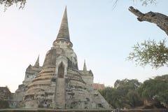 Rovina antica di Wat Phra Sri Sanphet Fotografia Stock Libera da Diritti