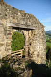 Rovina del castello di Clanx Fotografia Stock