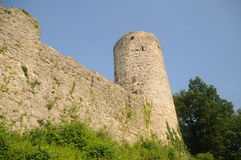 Rovina del castello di Dorneck Fotografia Stock