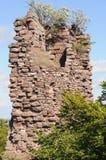 Rovina del castello di Greifenstein (Château du Greifenstein) Immagine Stock