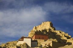 Rovina del castello di regno di Guge Fotografia Stock