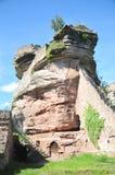 Rovina del castello di Tanstein Fotografia Stock