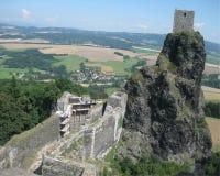 Rovina del castello di Trosky Immagine Stock Libera da Diritti