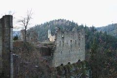 Rovina del palazzo del castello e del monastero di Oybin Immagine Stock Libera da Diritti