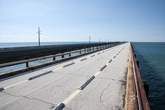 Rovina del ponte da sette miglia nelle chiavi di Florida Immagini Stock