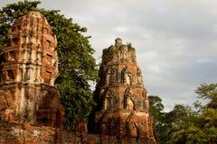 Rovina del tempio buddista Fotografia Stock