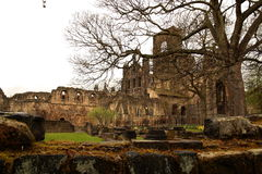 Rovina dell'abbazia di Kirkstall Immagine Stock Libera da Diritti