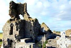 Rovina della chiesa di Abbeydorney Fotografia Stock