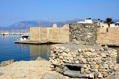Rovina della fortificazione e della torre dei cavoli, Ierapetra Immagine Stock