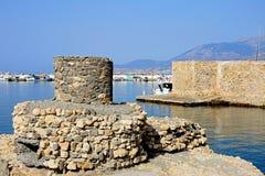 Rovina della fortificazione e della torre dei cavoli, Ierapetra Immagini Stock