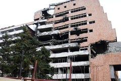 Rovina della guerra - costruzione demolita Immagini Stock